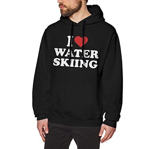Jeffhd_tee Unisex Mens I Love Water Skiing Pullover Hoodie Sweatshirts