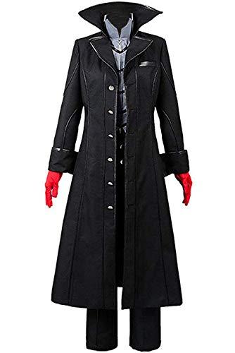 Cosplaysky Persona 5 Costume Dancing Star Night Joker Protagonist Akira Kurusu Cosplay Suit Large Black