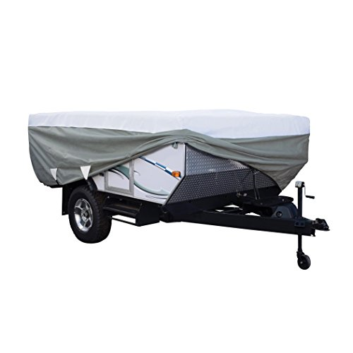 "Classic Accessories Over Drive PolyPRO3 Deluxe Pop-Up Camper Trailer Cover, Fits up to 8' 6"" Trailers (80-209-303101-00)"