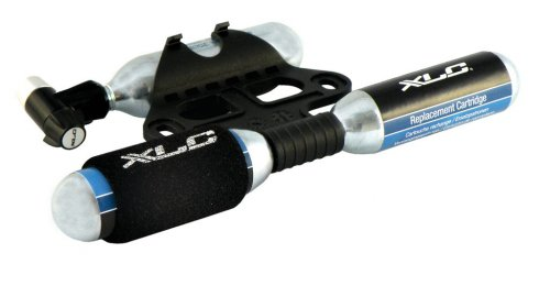 XLC Unisex – volwassenen luchtpomp CO2-patroonpomp PU-M03, zwart, één maat