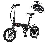 Bicicleta Eléctrica, DYU 16' Bicicleta Eléctrica Plegable Inteligente, 240W 36V 5Ah...