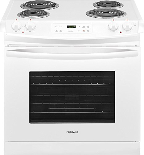 Frigidaire FFED3016TW 30 Inch Drop-In Electric Range with Coil Cooktop in White