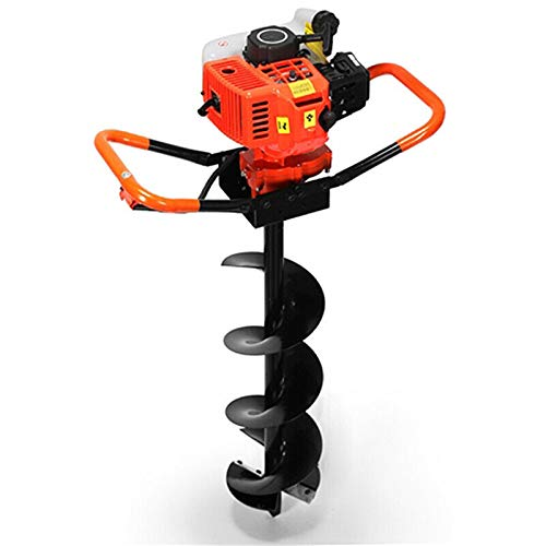 Thethan 72CC 3KW Petrol Gas Powered Earth Auger Post Hole Borer Ground Drill +3 Bits