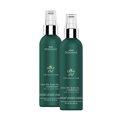 Olive Oil EVOO Lite Leave-in - Regis DESIGNLINE - Leave-In Conditioner Treatment Restores Dry and Damaged Hair without Build-Up and Protects Against Damage, Dryness, and Color Fading (6 oz 2 Pack)