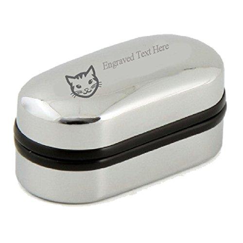Pet Cat Face gravée personnalisée boutons de manchette Boîte de Noël saint valentin ~ ~ ~ ~ mariage Mariés ~ Fathers Day ~ œuvres d'art avec texte san