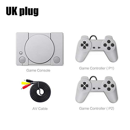 Consola de Juegos Retro Doble Batalla Consola de Juegos clásica Sistema de Entretenimiento para entusiastas del Juego de acción PS1 Mini Home 620 de 8 bits