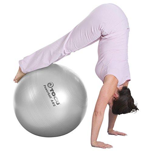Sport-Tec TOGU Gymnastikball Powerball ABS Sitzball Büroball Fitnessball 55 cm Silber