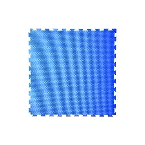 Toorx - Tatami ad incastro 100x100x2 cm. con 2 bordi rosso-blu superficie goffrata antiscivolo, anallergico