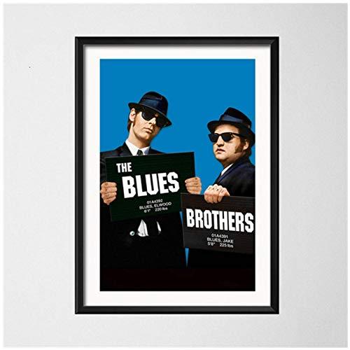TanjunArt The Blues Brothers Retro Vintage película música Banda Arte Pintura Vintage Lienzo póster Pared decoración del hogar-50x70 cm sin Marco