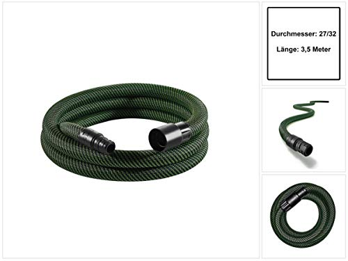 Festool 204921 Suction Hose D27/32x3,5m Saugschlauch glatt D27/32 x 5 m-AS/CTR, Grau