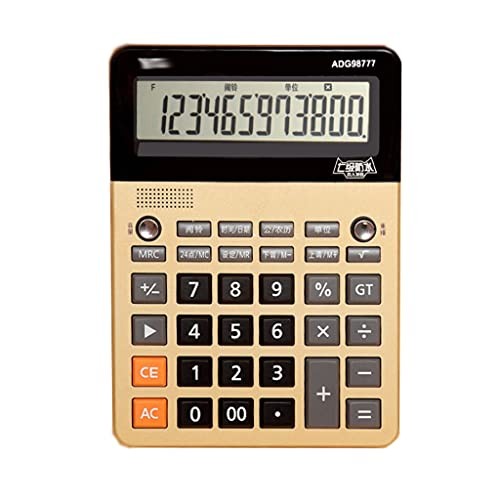 HJHJ Multifunción Calculadora De Voz Moda Realeza Pronunciación Calculadora Botón Grande Calculadora De Negocios Práctico