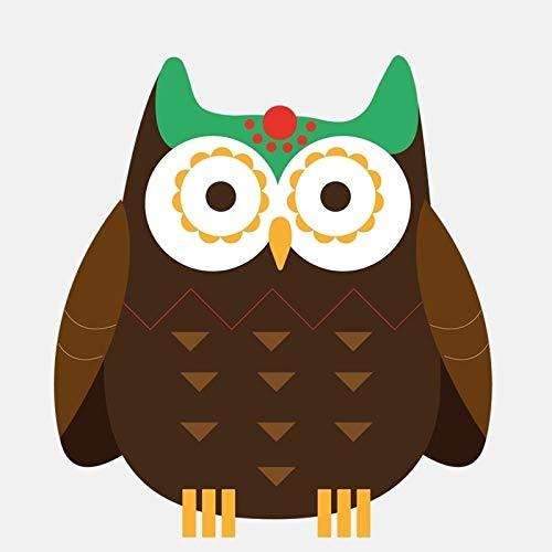 ZCZWQ 12,4 cm * 13.7cm Colorido auspicioso pájaro Lindo Grande Ojo búho Vinilo Ventana Decorativo gráfico Coche Cuerpo Ventana Trasera Caja de Cola Etiqueta Aplique Pegatinas de computadora