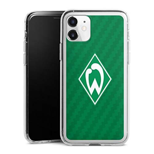 DeinDesign Silikon Hülle kompatibel mit Apple iPhone 11 Case transparent Handyhülle SV Werder Bremen Carbon Offizielles Lizenzprodukt