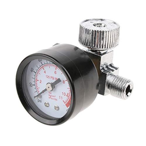 perfk Regulador de Aire para de Pulverización de 1/4'con Manómetro Y Presostato de Válvula