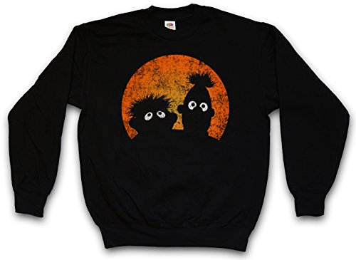 Urban Backwoods E & B Puppets Sweatshirt Pullover Schwarz Größe L