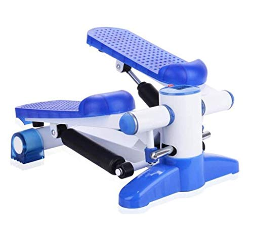 KJRJTBJ Stepper Mini ellittico da scrivania - Under Desk Elliptical Steppers for pedana da Ginnastica Pedal Exerciser con Design Unico Blu 40 * 30 * 21cm