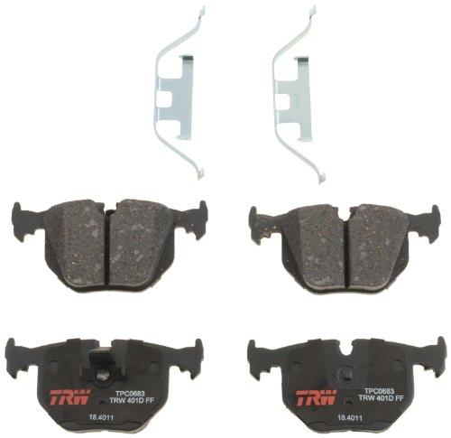TRW Automotive TPC0683 Scheibenbremsbelagsatz, für BMW X5: 2000-2006 und andere Anwendungen, hinten, schwarz