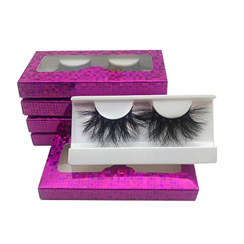 Wholesale 25mm Mink Lashes Mikiwi E01-5, Real Mink EyeLashes, Thick HandMade Full Strip Lashes, Crueltyl Free Fluffy Lash, Dramatic Lashes for Halloween Party, 3D Mink Lashes Bulk Pack-5