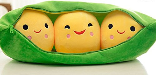 Stuffed Short Plush Shaped Pods Large Pillow Cushions Nap Doll Home Essential (53cm length)