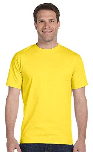 Hanes 5.2 onzas Camiseta de algodón (5280)., 5280, XL, Amarillo