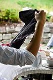 Novillo Servietten aus hochwertigen Leinen in Schwarz [4 Stück] - 45 x 45 cm - Stoffservietten aus 100% Leinen - Die Leinenservietten sind strapazierfähig, saugstark und schmutzabweisend - 6