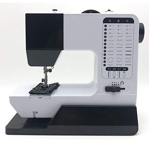 Draagbare naaimachine met voetpedaal, 16 steken Heavy Duty naaimachine met 2 snelheden, elektrisch handbediend quiltborduurwerk Overlock