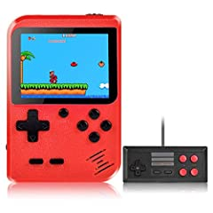 【3 Inch Color Screen portable and trendy】250g lightweight, can be with you in your pocket, bag, etc. It perfect for traveling or on the go.If You find the scratches on The screen after receving the game console,Just Tear Off The Screen Protection Fil...
