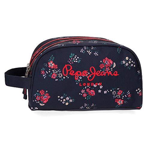 Neceser Doble compartimento Adaptable Pepe Jeans Daniela, 26 cm, Multicolor