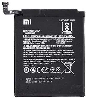 BOMAItalia Batería para Xiaomi Mi 5X Mi A1 Redmi Note 5A Redmi S2 BN31 3080 mAh compatible
