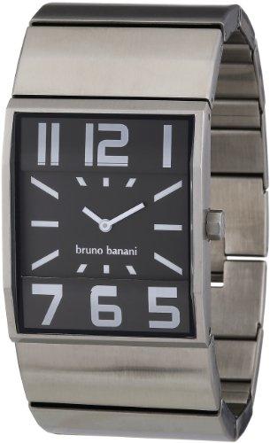 Bruno Banani Herren-Armbanduhr XL Brix Gents Analog Edelstahl BR21005