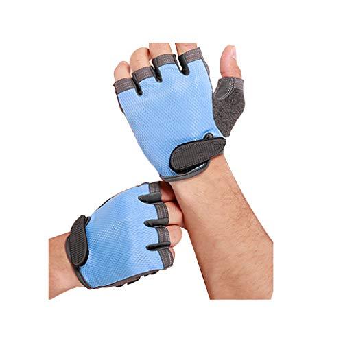 Viesky Bike Half Finger Handschoenen Anti Slip Schokabsorptie Pad Ademende Outdoor Sport Motorfiets Mountainbiken Fitness Fietshandschoenen Mannen Vrouwen Medium Blauw