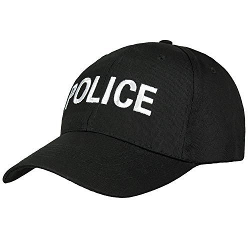Black Snake Baseball Cap SWAT FBI Security Police Schwarz Police OneSize