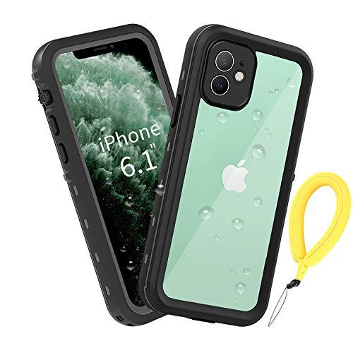 BDIG Funda iPhone 11 Impermeable, [Anti-rasguños][Protección de 360 Grados],Case Protectora con Protector de Pantalla Incorporado para iPhone 11 Case 6.1 Inch 2019 (FOR iPhone11 6.1', Negro)