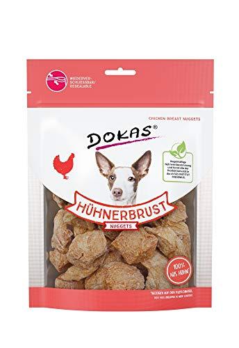 DOKAS Pépites séchées au congélateur de qualité supérieure pour Chiens – Snack idéal pour Les Repas Entre Les Deux.