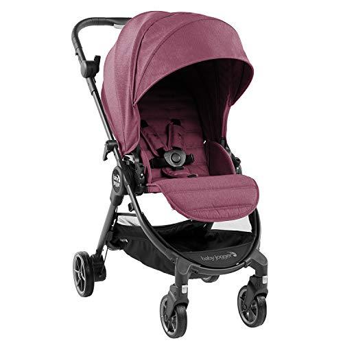 Baby Jogger City Tour LUX , color berenjena. Silla de paseo de uso desde nacimiento hasta 20,5 kg con plegado ultra compacto y muy ligero