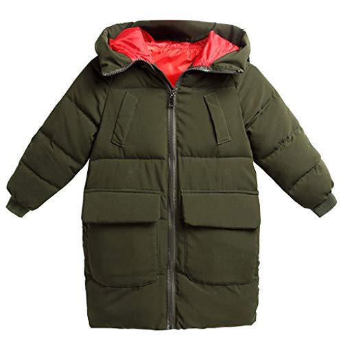 Kinder Winter Mäntel mit Kapuze Jungen Madchen Jacke Schneeanzüge Dick Outfits 3-4 Jahre