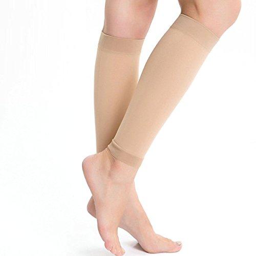 Kingbridal Women's Medical Calf Compression Stockings 20-30mmhg Socks Sleeve Swelling Shin Splint Varicose Veins Edema Nurses Maternity Nude