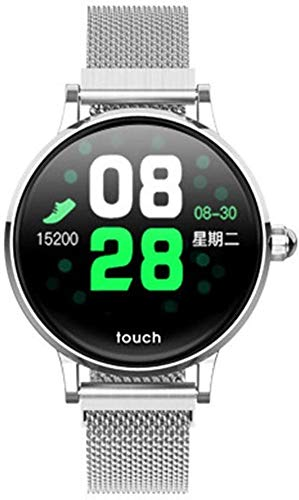 Smart Watch Men Women with Heart Rate Monitor Smart Fitness Bracelet Bluetooth Sport Waterproof Smart Wristband for Android IOS (Color : Silver)