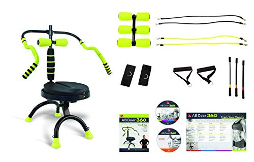 AB Doer 360 - PRO Pack Included - Transform Your Entire Body with Abdobics Ab Workout and Exercise to Burn More Calories & Build Muscle Fast!