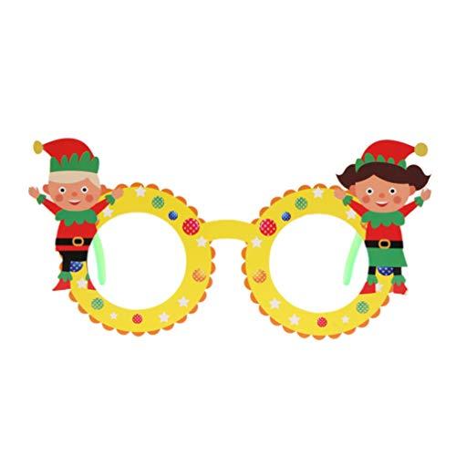 Amosfun Rahmenelfenweihnachtsdekoration-Kostümbrillen der Weihnachtsgläser 4pcs