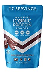 20g COMPLETE PROTEIN PER SERVING: ICONIC's chocolate protein powder is a low carb mix of both whey protein and casein protein which is slower-digesting and more filling than your run-of-the-mill whey protein powder blends so that you stay fuller long...
