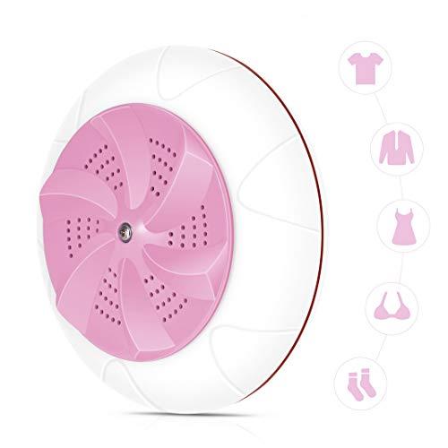 Mini máquina de limpieza por ultrasonidos de turbina portátil, herramientas de limpieza de viaje con carga USB, limpiador multifunción ultrasónico para el hogar,Pink