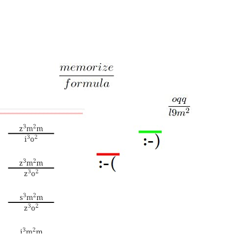 Memorize Formula