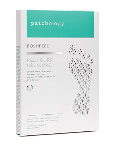 Patchology PoshPeel Pedi Cure Intensive Foot Peel Mask Treatment for Calloused Feet, 1 Pair