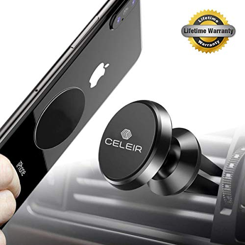 Celeir Magnetic Phone Mount for Car, Universal Magnetic Phone Mount and Holder for any Phone, Gps, Including iPhone Xs MAX/XR/XS/X/8 Plus, Note 9/S9/ ... Best Magnetic Phone Mount and Holder for 2019