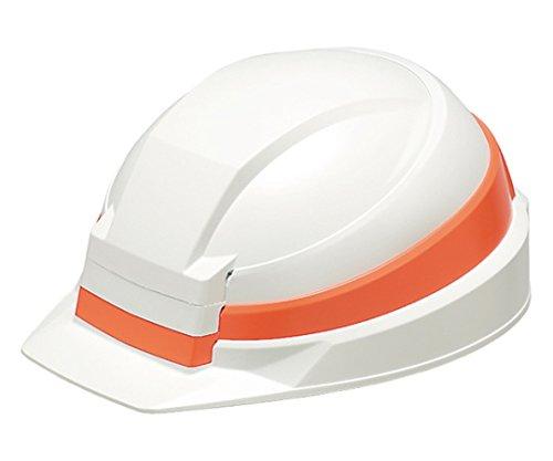 日本緑十字社 防災用ヘルメットIZANO ホワイト/オレンジライン 62-3805-50/380225