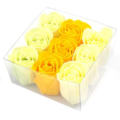 Lot de 9 Roses de Savon - Rose du Printemps