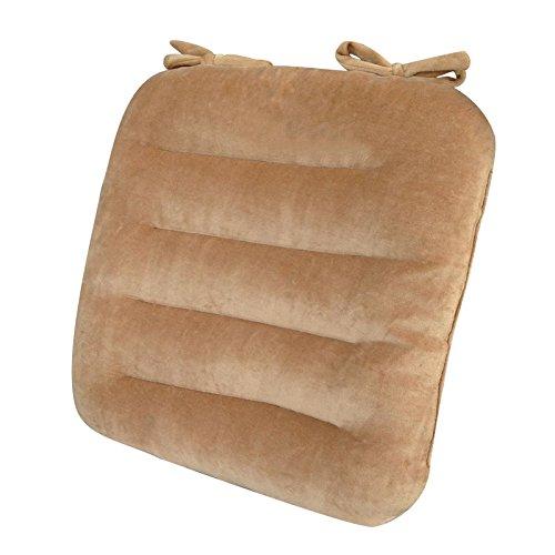 Uus Coussin Doux et Confortable Coussin de beauté Ancre Coussin de siège Ergonomique Assise Matelas 40 * 40 * 8cm (Couleur : Marron)
