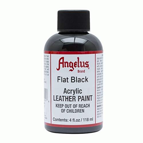 Angelus Leather Paint 4 oz Flat Black
