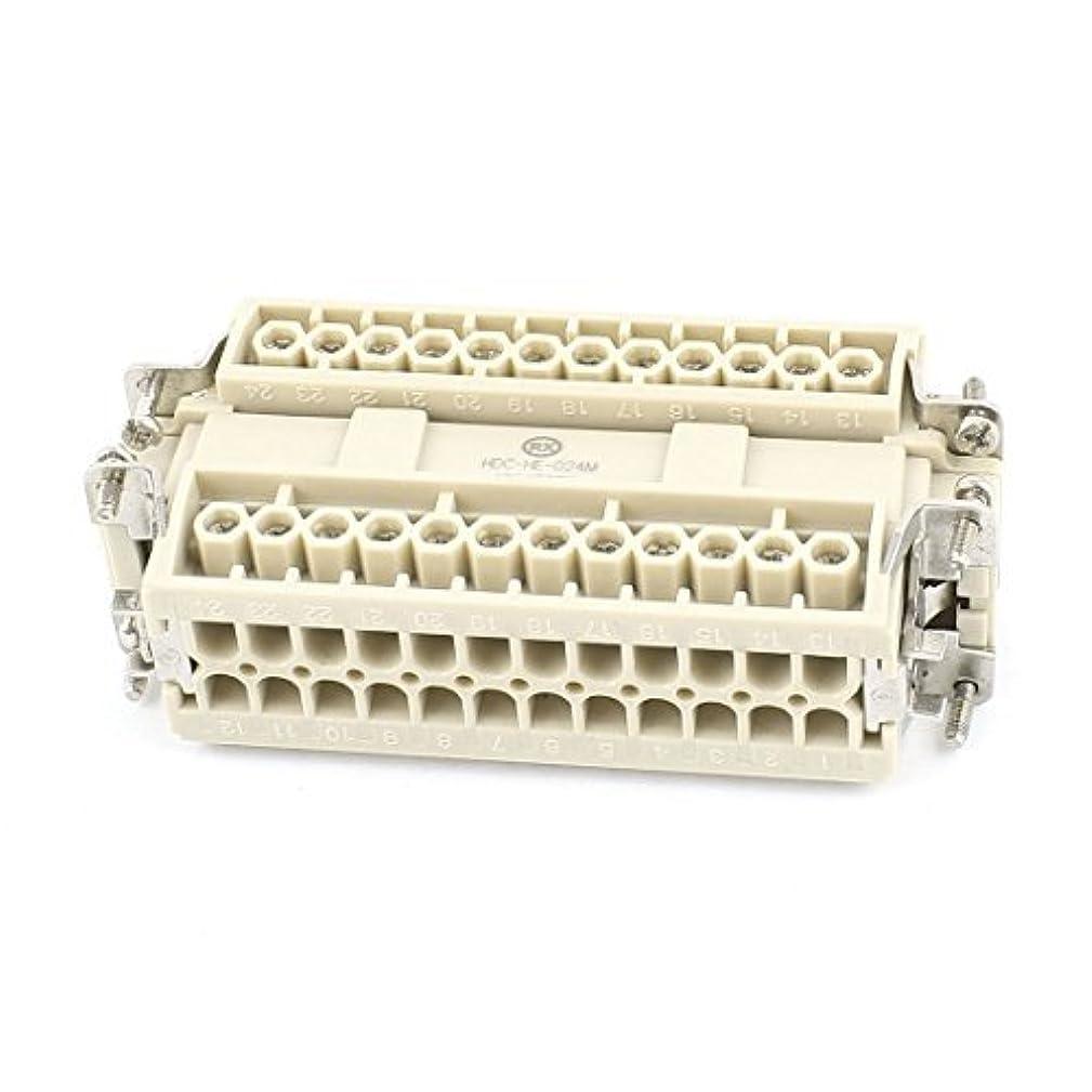 eDealMax Entrada de Cables eléctricos de CA de 500V 16A 6KV 24 Camino M/F Conector Industrial